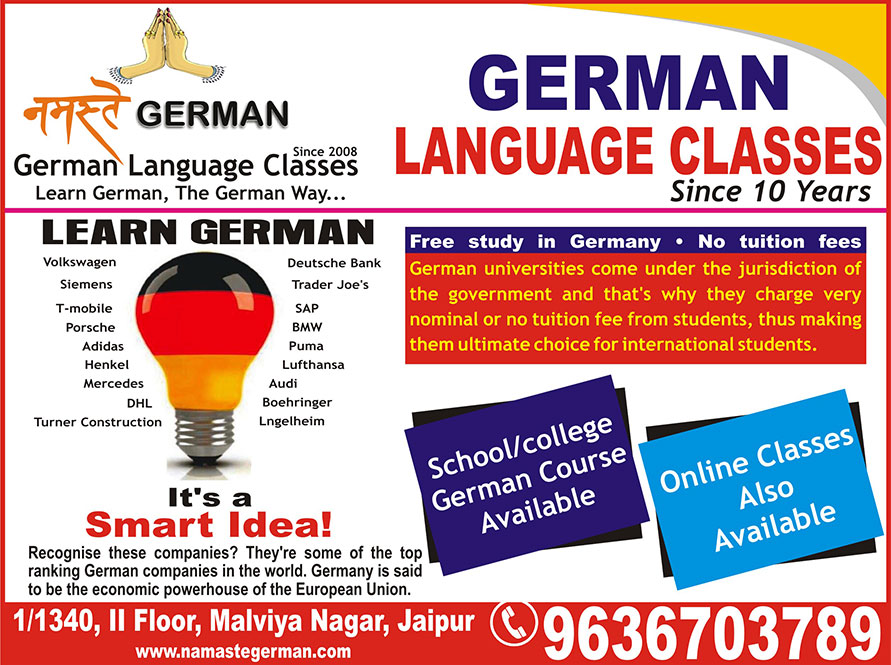 Namaste German: Best German Language Classes in Jaipur, German